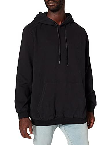 JACK&JONES PLUS JCOCLASSIC Sweat Hood PS Sweatshirt Capuche, Noir, 6XL Homme