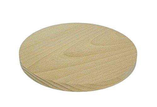 Schneidebrett aus Holz, rund, 20 cm Durchmesser, für Küche, Massivholz
