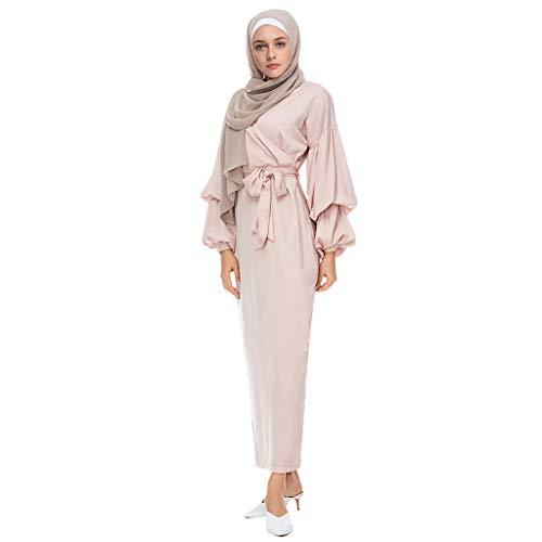 Lazzboy Durchbrochene Stickerei Kleid Abaya Cardigan Muslimischen Dubai Muslimische Knöchellang Tunika Abendkleid Gewand Damen Hochzeit Kaftan Muslim Islamische Caftan Kleidung(Schwarz,XL)