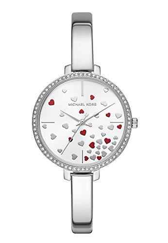Michael Kors Damen Analog Quarz Uhr mit Edelstahl Armband MK3976