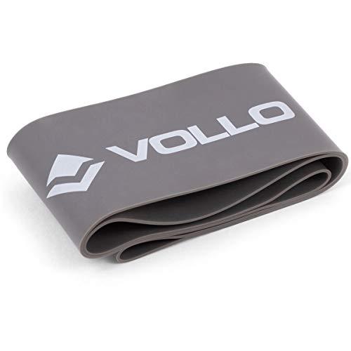 Mini Faixa de Exercício Nível Forte 0,90 mm, Vollo Sports, Cinza Escuro