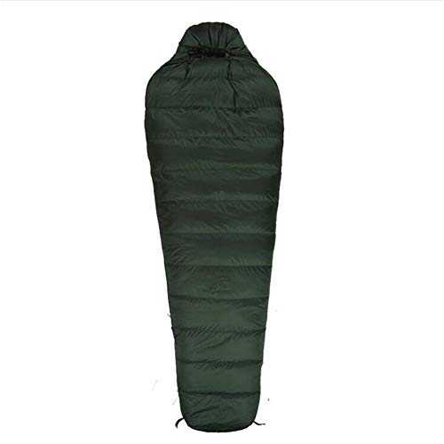 LAIABOR Outdoor Sacco A Pelo Mummia Unibile Con Zip Forma Di Mummia, Adulto, Per Estivo, Trekking, Viaggio,Armygreen1200g
