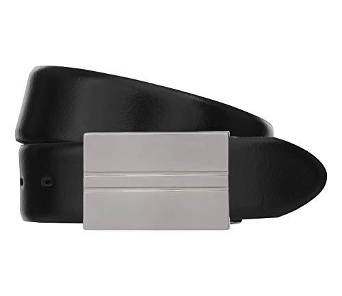 LLOYD Men\'s Belts Gürtel Herrengürtel Ledergürtel Koppelschließe Schwarz 6597, Länge:85, Farbe:Schwarz