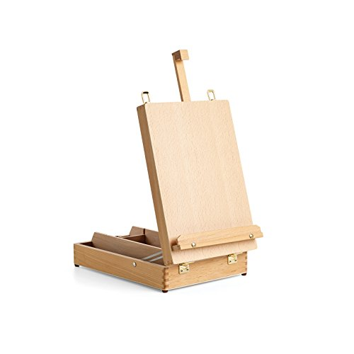 Kastenstaffelei Liffey für Keilrahmen, bis 62 cm höhe , höhenverstellbar, Abmessung 44,5 x 27 x 38 cm