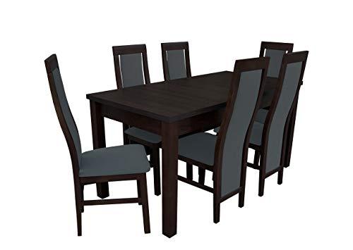 Mirjan24 Esstisch Stuhl Set RB14 Essgruppe, Tischgruppe, Sitzgruppe Esstischgruppe, Esszimmergarnitur (Nuss, Granada 2725)