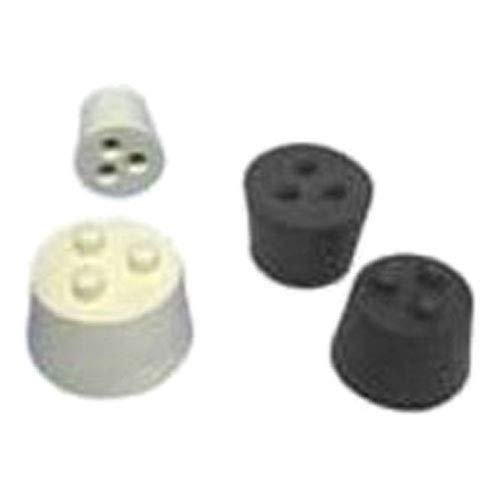 Plasticoid Twistit TWISTBL-3 Tapón de dos agujeros de goma, 24 mm de diámetro superior, 18 mm de diámetro inferior, 3 tamaños, 25 mm de longitud (caja de 500)