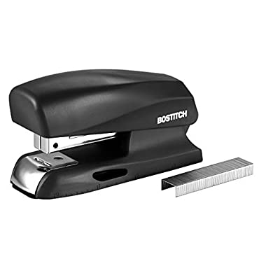 Bostitch Office 20 Sheet Stapler, Small Stapler Size, Fits into the Palm of Your Hand; Black (B150-BLK)