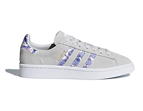 adidas Campus J, Zapatillas de Gimnasia Unisex Niños, Gris (Grey One F17/Clear Lilac/FTWR White), 40 EU