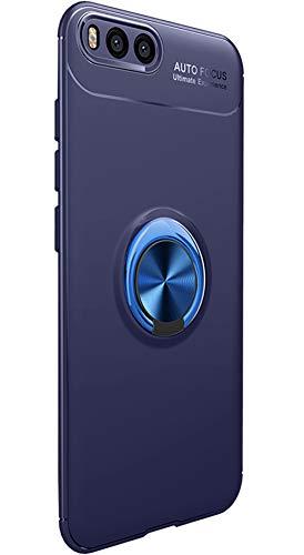 Tianqin Xiaomi MI6 Funda, Ultra Delgado Ligero TPU Suave Anti Caída Protección Sigilo Anillo Hebilla Compatible con Montaje Magnético del Coche per Xiaomi MI6 (Azul)