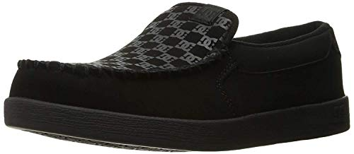 DC Shoes Men's Villian Slip On Shoes Black Print 9