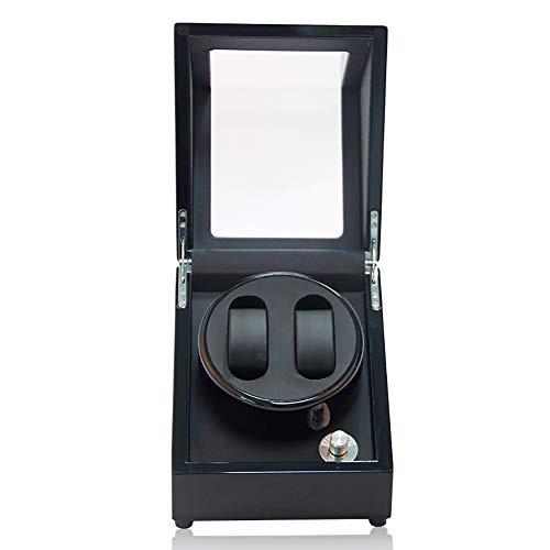 QL Watch Winder Silenciador automático de Reloj Fuente de alimentación Dual de Motor Ventana acrílica de Vidrio orgánico 5 Modos de rotación, A Prueba de Polvo a Prueba de Agua