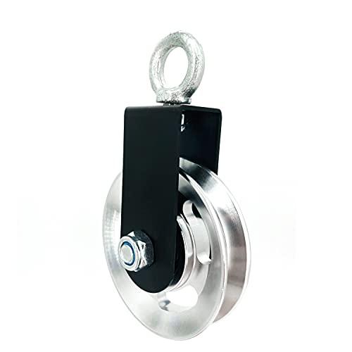 88mm Umlenkrolle Seilrolle mit U Haltebügel 360°Drahtseilrolle Block Flaschenzug,riemenscheibe,für Seile DIY Fitnessgeräte Kabelmaschin