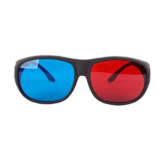 Newin Star Rot-Blau 3D-Brille Cyan Anaglyphen einfache Art-3D-Brille Stereo Movie Game-Extra 3D Movie Game-Extra Glasse für Männer Frauen