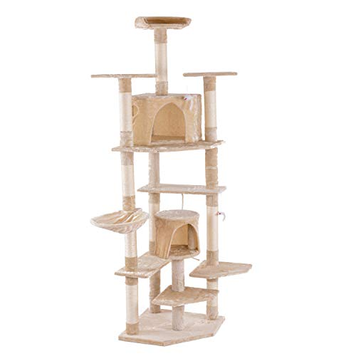 "no-branded 80""Multi-Level Cat Tree Cat Tower mit Condo Beige"
