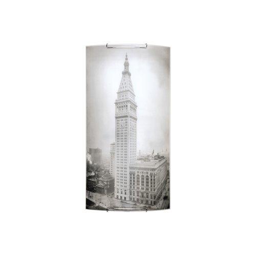 Spot-Light LED Wandleuchte Impressions 1 Glas, 34,5 x 66 cm, weiß/schwarz SP-4160304M