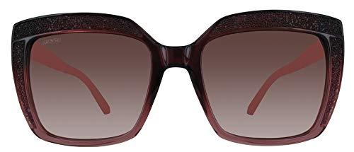 Swarovski SK0179-71F-53 rechthoekige zonnebril 53, rood