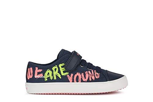 Geox GISLI - Zapatillas deportivas para niña con plantilla suelta, color Azul, talla 27 EU