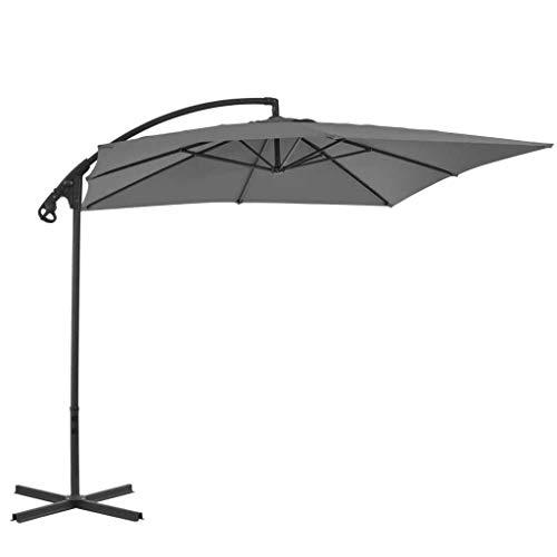 XNJJ Paraguas al aire libre, los quitasoles toldo de poliéster, el viento y la protección ultravioleta 250 * 250cm sombrillas de jardín, que se utiliza for el jardín jardín jardín de césped al aire li