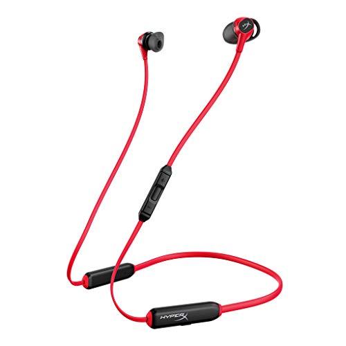 HyperX Cloud Buds – Bluetooth Auriculares inalámbricos, Qualcomm aptX HD, 10 Horas de duración de la batería, Controladores de 14 mm, cómodas Almohadillas de Silicona, 3 tamaños de Cabezal, Rojo