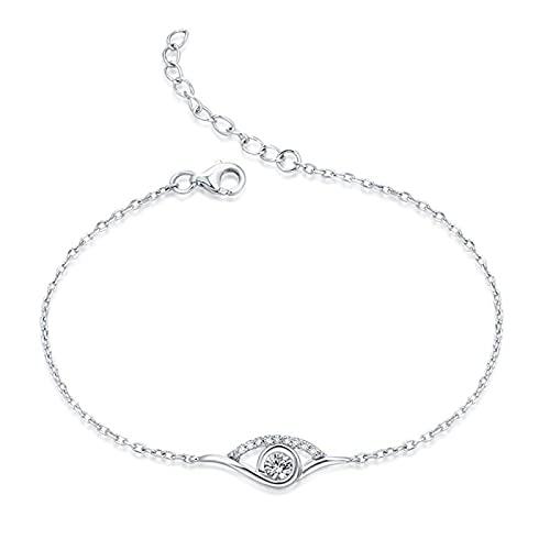 925 Sterling Silber YCHZX Halskette Personalisierte Geburtsstein Armband Liebe Herz Armband Valentinstag Muttergeschenk Roségold