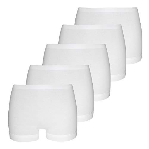 con-ta Conta Pagenschlüpfer (5er Pack), Damenbekleidung, Unterwäsche für perfekten, eng anliegende Pants aus Baumwolle, in Weiß, Größe: 44