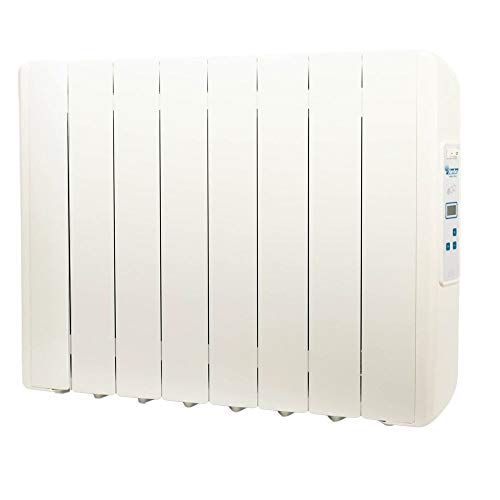 farho Radiador Electrico Eco-X Ultra 1330W (8) · Emisor Térmico con Termostato Digital Programable 24/7 · Radiadores Electricos Bajo Consumo para estancias de hasta 18 m² · 20 AÑOS DE GARANTÍA