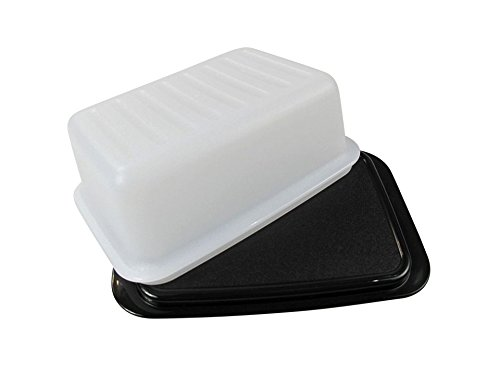 TUPPERWARE Butterdose Butter-Schatz weiß schwarz C21 Butterschatz Kühlschrank 6623