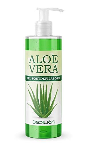 Aloe Vera 500ml para la Depilación Cera/Tratamiento para la Piel Post Depilación/Roll-on Cera para depilación