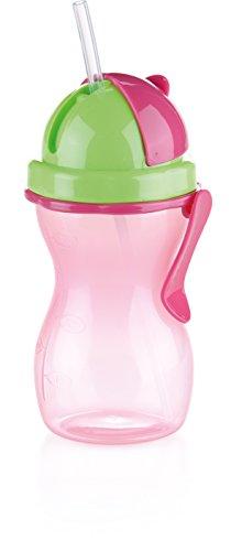 Tescoma Bambini Kinderflasche, Kunststoff, rosa-grün, 20 x 10 x 8.4 cm