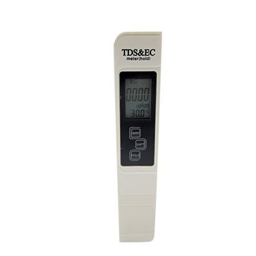Cratone TDS EC Temperaturmessgerät Digital Wasserqualität Tester mit Ledertasche Temp PPM Test für Trinkwasser Schwimmbecken Spas Aquarium Hydrokultur Wasser