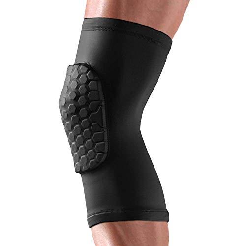 MU Calentamiento Wang Rodilleras Deportes Baloncesto Pantalones Protección Piernas Protectores Equipo de equitación Fitness Running Honeycomb Leggings (2 piezas)