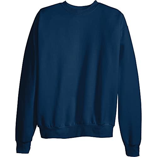 Hanes Men's EcoSmart Sweatshirt, Navy, Large