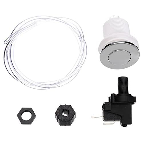 MYBOON Interruptor de botón de Aire pulsador 125-250V 16A para baño, SPA, bañera de hidromasaje, Tubo de eliminación, Interruptor de botón, 32 Botones