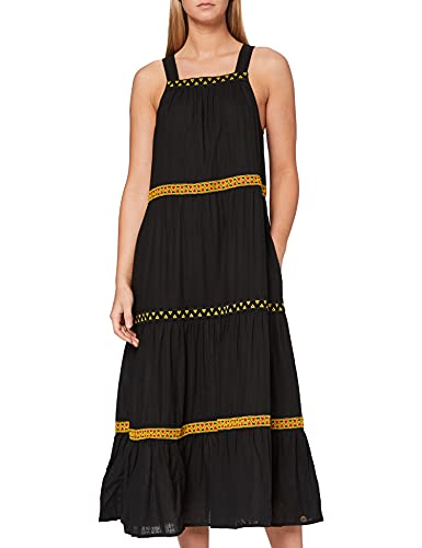 Superdry Womens Sleeveless Embroidered Dress, Black, S