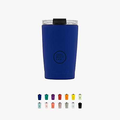 Cool Bottles - Tumbler - Vaso Térmico de Acero Inoxidable - 330 ml - Vivid Blue - Taza de...