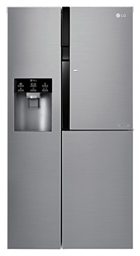 LG GSJ561PZUZ 591L A++ Stainless steel side-by-side refrigerator - Side-By-Side Fridge-Freezers (Freestanding, Stainless steel, American door, LED, Door-on-door, Glass)
