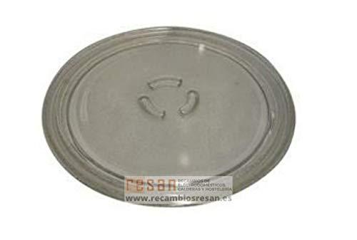 Whirlpool - Plato Giratorio de Cristal para microondas (28 cm)