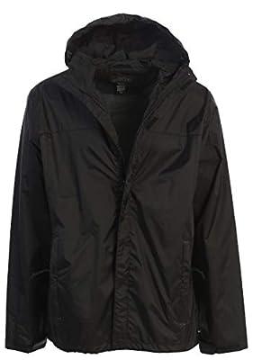 Gioberti Men's Waterproof Rain Jacket, Black, XL by China