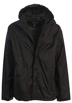 Gioberti Men s Waterproof Rain Jacket Black M
