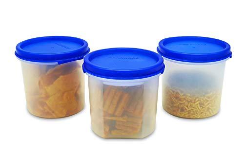 Mahaware Alpha Modular Kitchen Container Set, 300ml, Set of 3, Blue