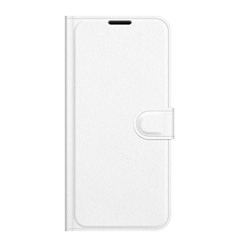 ZL ONE - Carcasa compatible con Xiaomi Redmi 4X Flip PU Cuero Magnético Protector Bumper Case Cover (Blanco)