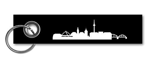 Skyline4u Mannheim Skyline Collage Schlüsselanhänger skyline4u 13x3cm schwarz/weiß
