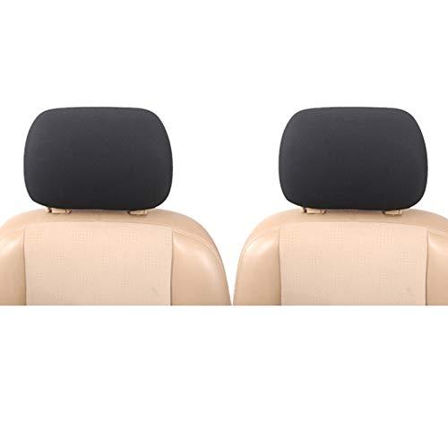Upgrade4cars Auto Kopfstützenbezug Set Universal in Schwarz Auto-Zubehör Innenraum