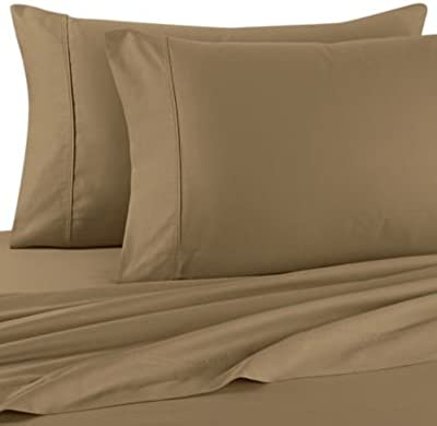 "Crescent Comfy 2 Pack 100% Cotton Standard Pillow Cases, 20""x30"" (King 20""x40"", Taupe)"