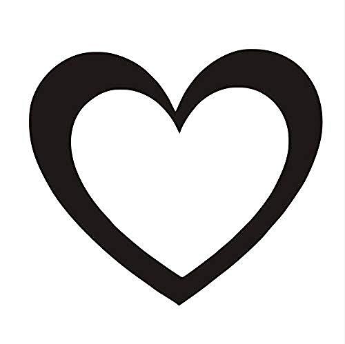 Adesivi murali,Adesivo murale cuore semplice Decorazioni per la casa Soggiorno Cameretta Motivo decorativo da parete Adesivo decorativo rimovibile Vinile Adesivo 44 * 38cm