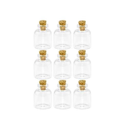 XIAOFANG 24pcs 4 ml pequeñas y claras Lindo envase de Cristal con...