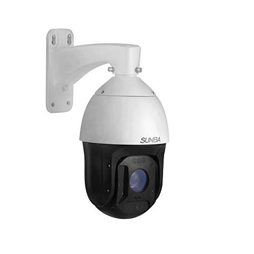 SUNBA 1080p Auto Tracking Starlight 25x Optical Zoom IP PoE+ PTZ Camera, RTMP for Broadcasting and Outdoor with Two-Way Audio & Long Range Infrared Night Vision up to 1000ft (Illuminati-2W)