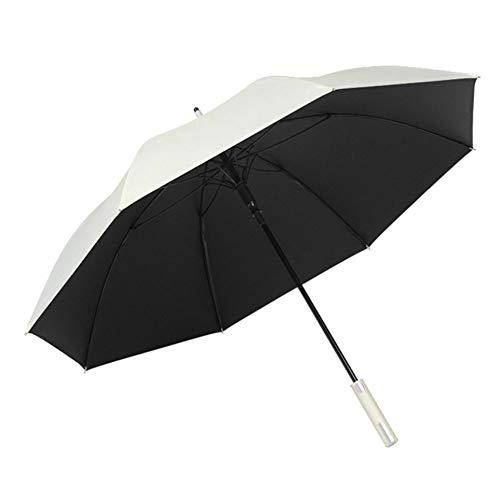 Ghafei Paraguas resistente a la intemperie, 8 huesos, pegamento negro, automático, plegable, portátil, antiultravioleta, adecuado para senderismo, caminatas, desplazamientos