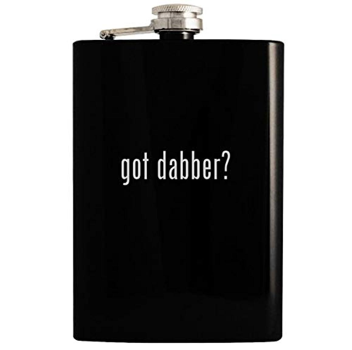 got dabber? - Black 8oz Hip Drinking Alcohol Flask