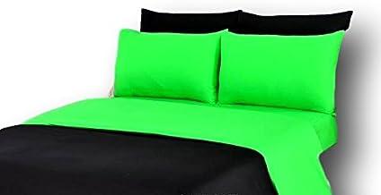 طقم غطاء لحاف 4-6 قطع تاش 100% من القطن بألوان ثابتة قابلة للعكس بألوان نابضة بالحياة مختلفة King DC46PC-GBK